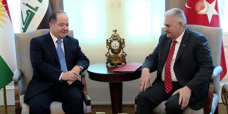 Başbakan Yıldırım ile Mesud Barzani görüştü