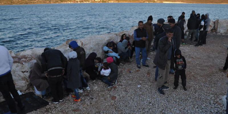 Çeşme'de 67 Suriyeli mülteci yakalandı