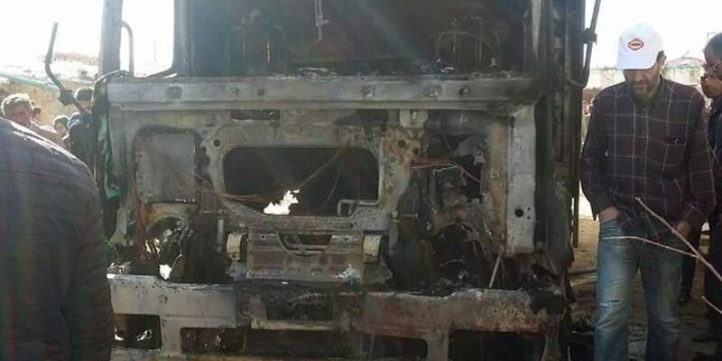 Kaynak yapılan TIR bomba gibi patladı: 1 ölü