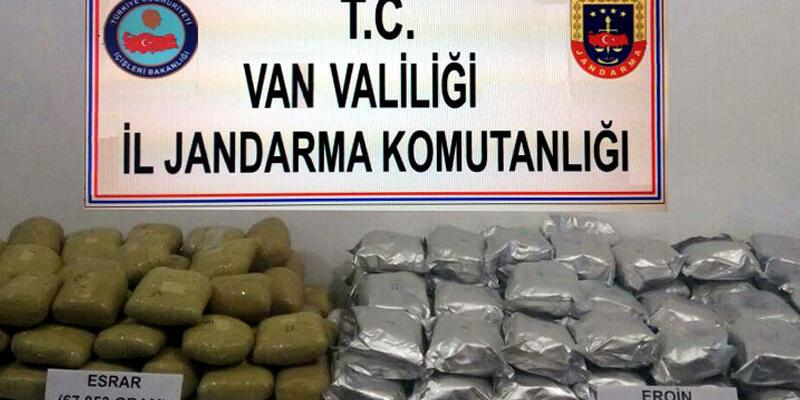 Van'da toprağa gömülü 122 kilo uyuşturucu bulundu