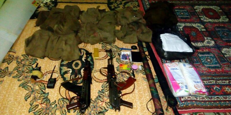 Camide PKK'nın silahları bulundu
