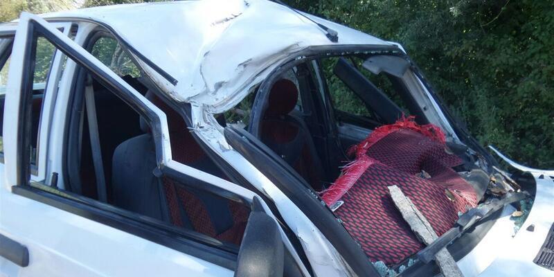 Seyir halindeki otomobilin üstüne ağaç düştü: 1 ölü, 2 yaralı
