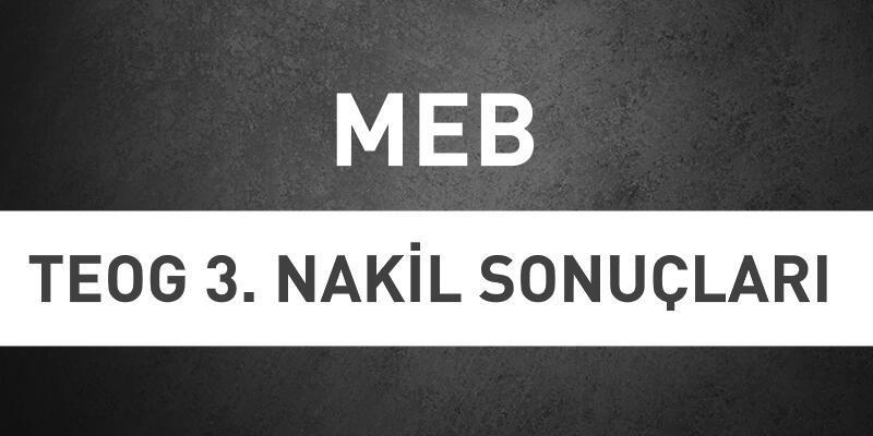 Son dakika... TEOG nakil sonuçları açıklandı | MEB e-Okul sonuç sorgulama