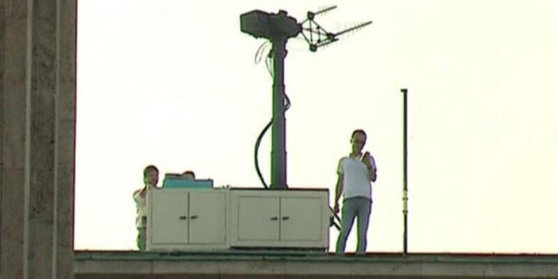 TBMM'nin çatısına antidrone sistemi yerleştirildi