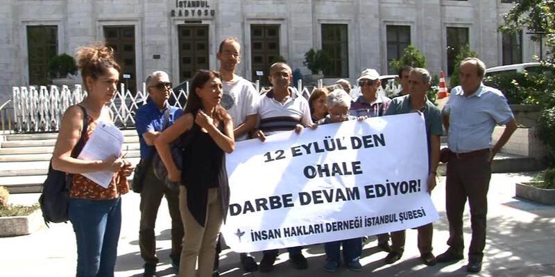 Taksim'de 12 Eylül protestosu