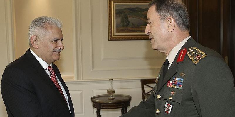 Başbakan Yıldırım, Hulusi Akar'ı kabul etti