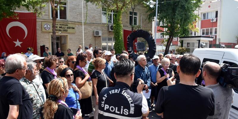 Marmaris'te 'Atatürk'süz müfredata hayır' eylemi