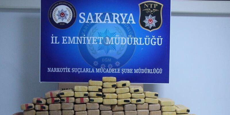 Sakarya'da 72 kilo 970 gram eroin ele geçirildi