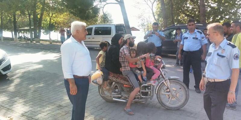 1 motosiklette 6 kişi