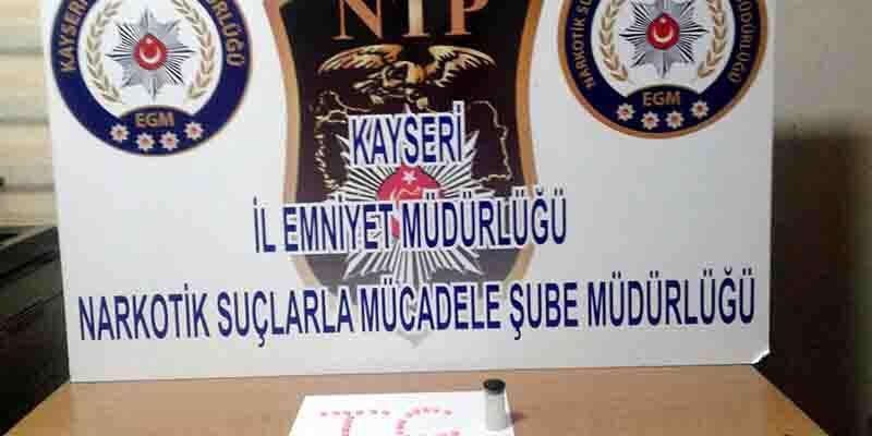 Kayseri'de uyuşturucu baskını: 2 gözaltı