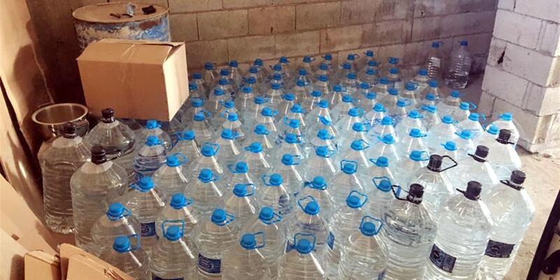 Gaziantep'te sahte içki operasyonu