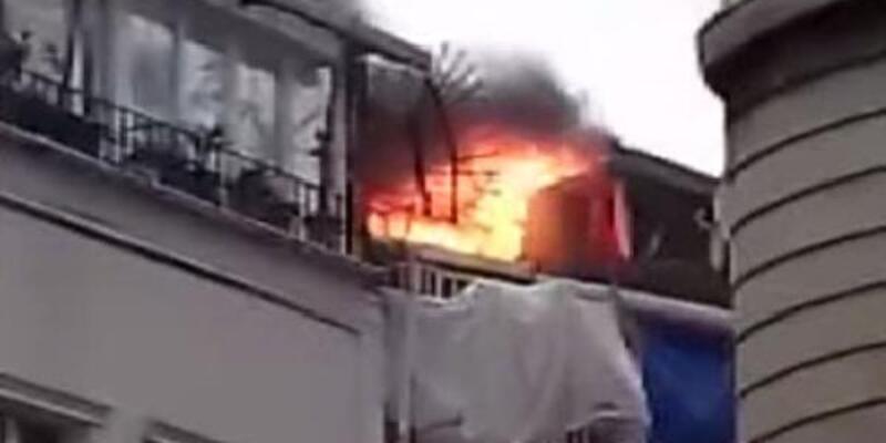 İstanbul Fatih'te 3 katlı binada yangın