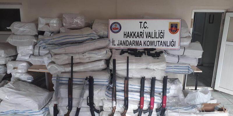 Şemdinli'de arazide 78 bin paket kaçak sigara ele geçirildi