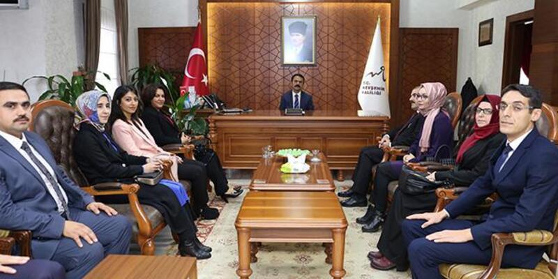 """Vali Aktaş'a """"24 Kasım öğretmenler günü"""" ziyareti"""