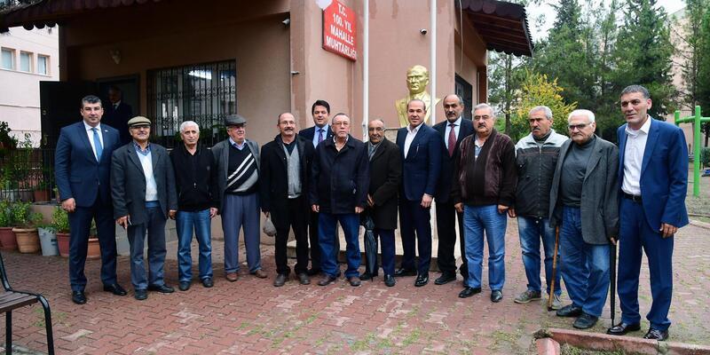 Başkan Sözlü'den 100. Yıl ve Barbaros Mahalle Muhtarlıklarına ziyaret