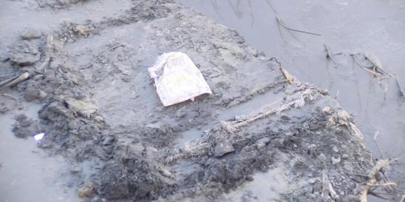 Atık su kanalında bebek cesedi (1)