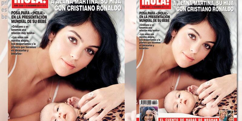 Cristiano Ronaldo'nun kızı kapak oldu
