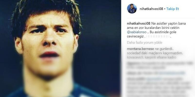 Nihat Kahveci'den Xabi Alonso'ya mesaj