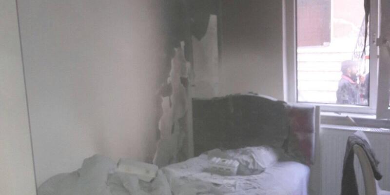Keşan'da ev yangını
