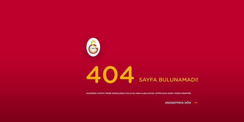 Galatasaray'ın internet sitesinde Tudor'a ulaşılamıyor