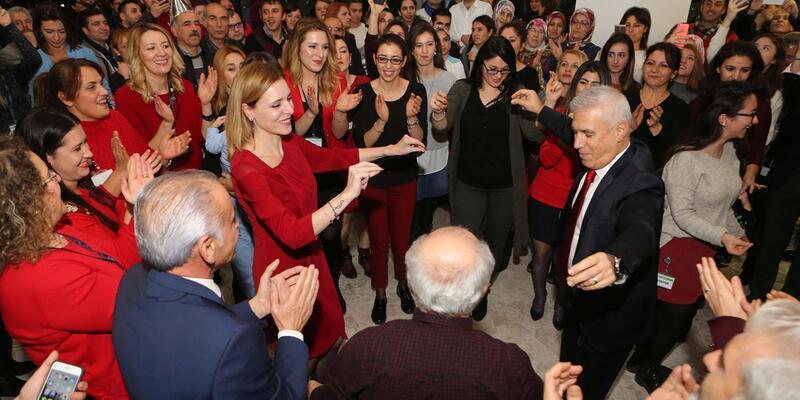 Nilüfer Belediyesinde yeni yıl kutlaması