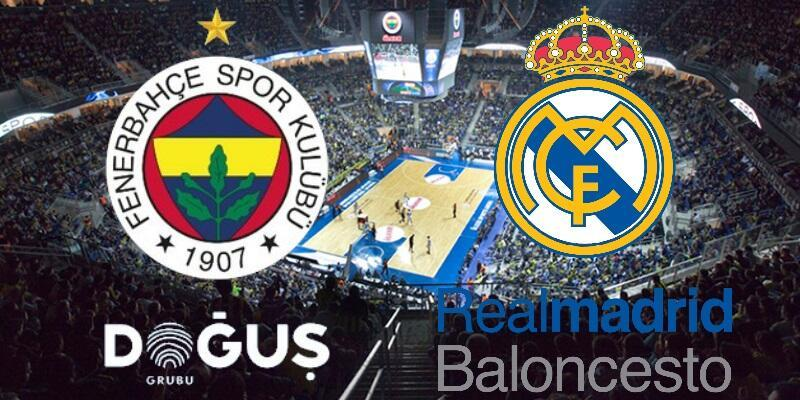 Basketbol: Fenerbahçe-Real Madrid maçı izle | THY Euroleague hangi kanalda, ne zaman?