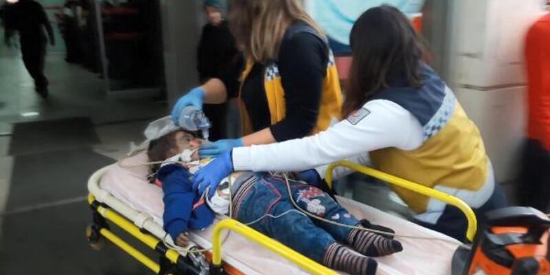 Anne pazardayken evde yangın çıktı: 2 çocuk ağır yaralı