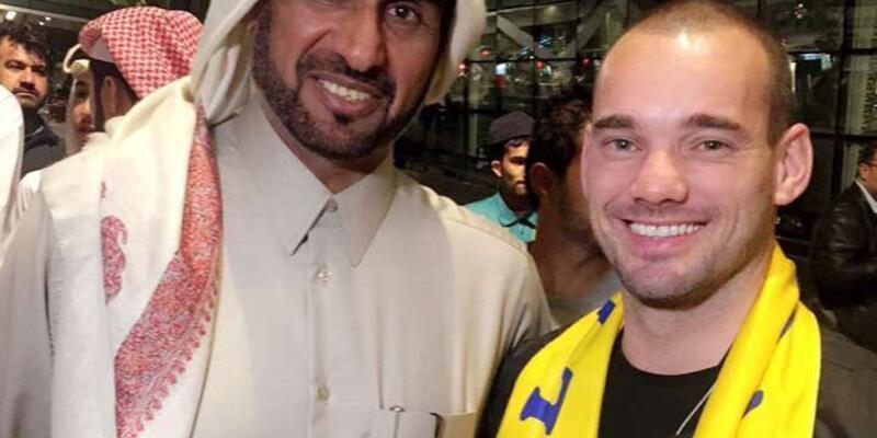 Wesley Sneijder imza için Katar'da