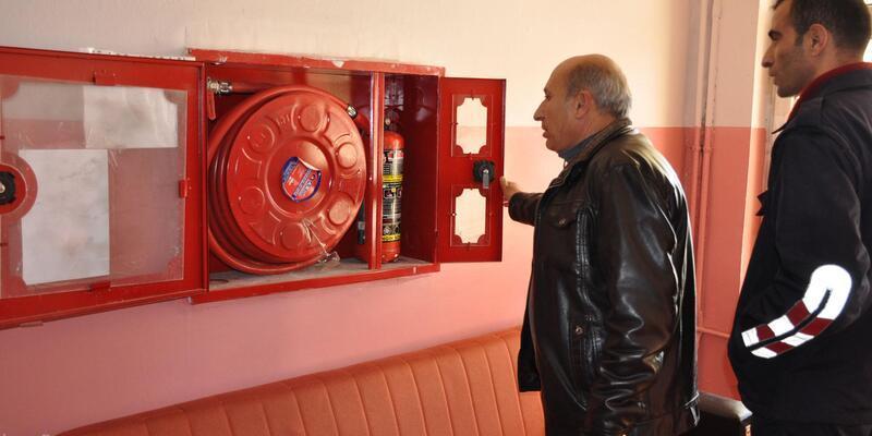 Yüksekova'da yangın müdahale sistemleri denetlendi