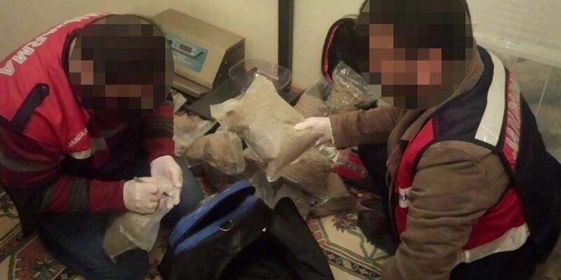 Jandarmadan 2 milyon liralık uyuşturucu operasyonu