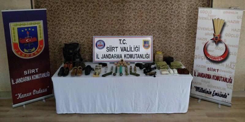 Siirt'te PKK'nın 8 sığınağı imha edildi