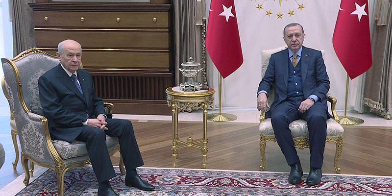 Son dakika... Erdoğan- Bahçeli görüştü