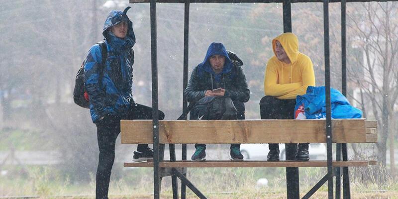 Kırklareli'nde sağanak yağmur