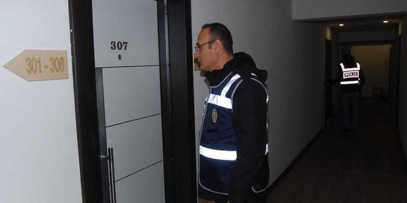 Denizli'de polisten günübirlik apartlara denetim