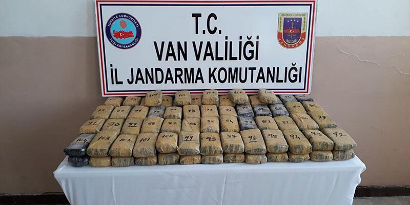 Van'da uyuşturucu operasyonu: 57 kilo eroin ele geçirildi
