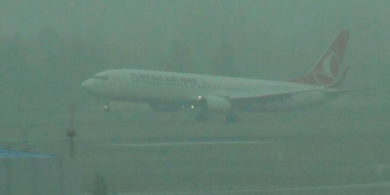 Erzurum uçuşlarına sis engeli, seferler iptal edildi