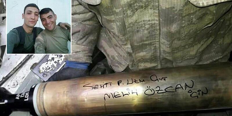 Tanksavar füzesinin üzerine El Bab şehidinin adını yazdı
