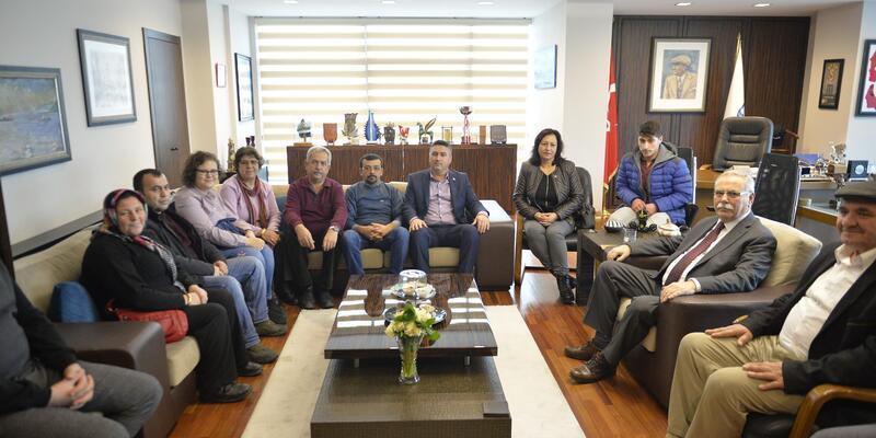 CHP Ayvacık İlçe Yönetimi Başkan Gökhan'ı ziyaret etti