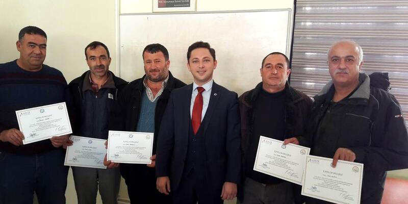 Üreticilere sertifika verildi
