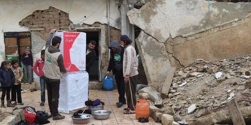 İHH'den Suriye'deki181 aileye çamaşır makinesi