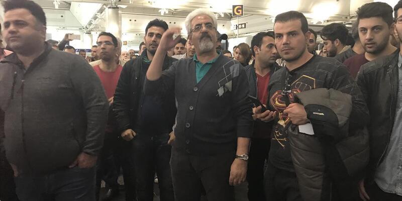 Atatürk Havalimanı'nda İranlı yolculardan protesto