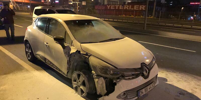 Son Dakika... Atatürk Havalimanı polisinden kaçan araç yanmış halde bulundu