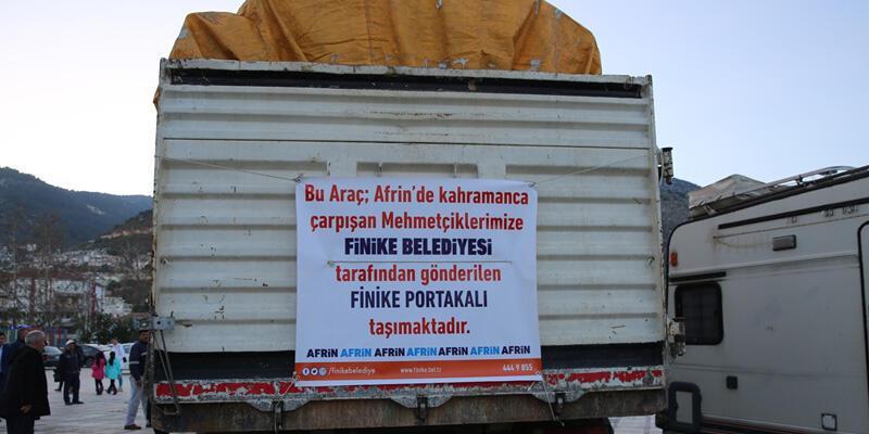 Afrin'deki Mehmetçik için portakal gönderdiler