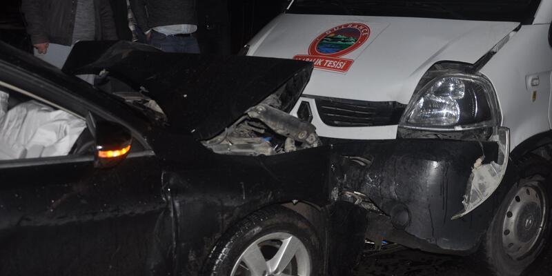 Kurşunlanan sürücü kaçarken kaza yaptı