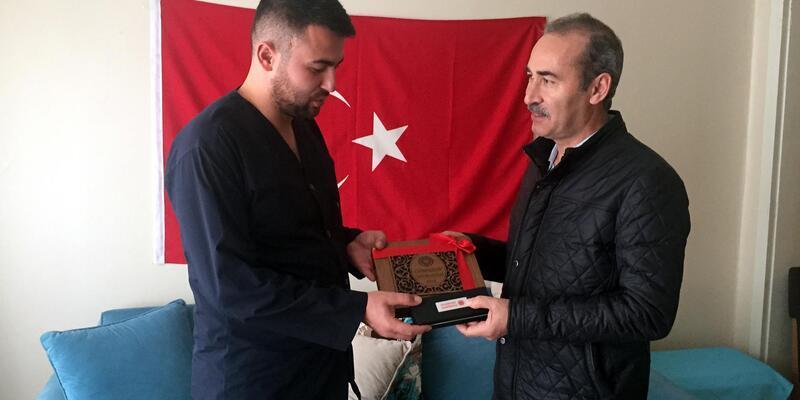 CÜ Rektörü Yıldız'dan Afrin gazisine ziyaret