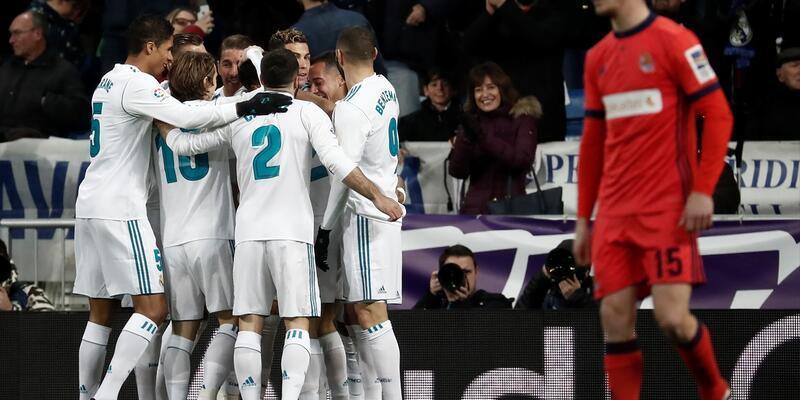 Real Madrid'den 5 gollü galibiyet