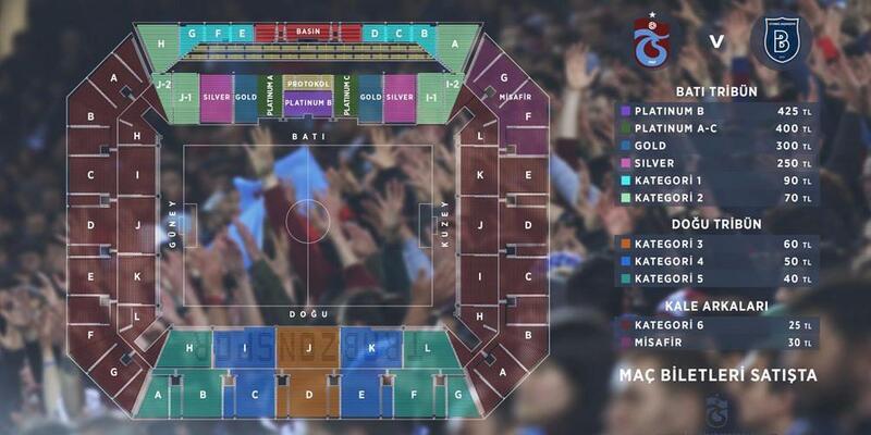 Trabzonspor'da Medipol Başakşehir maçı biletleri satışta