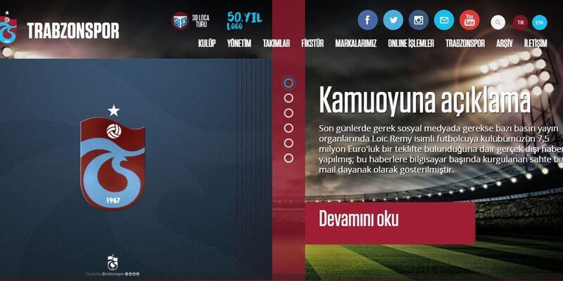 Trabzonspor'dan 'Remy' açıklaması