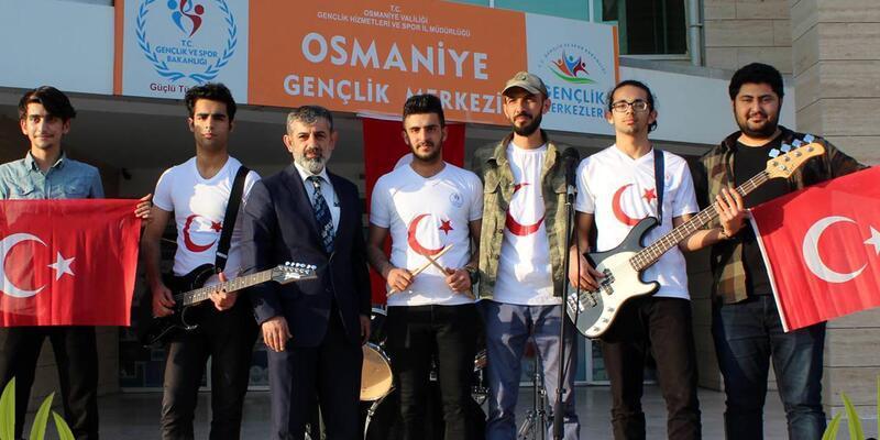 Zeytin Dalı Harekatı kahramanlarına marş ile destek