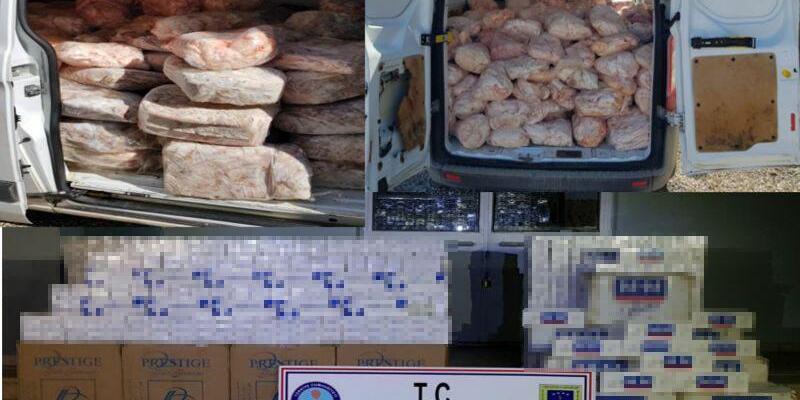 Van'da gümrük kaçağı 30 bin 450 paket sigara ele geçirildi